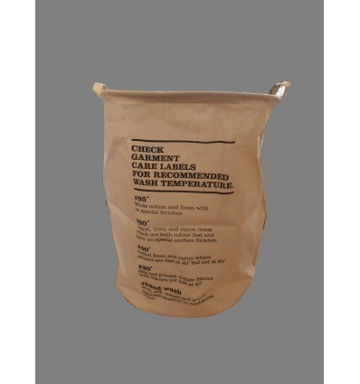 image: cesto ropa loneta crudo