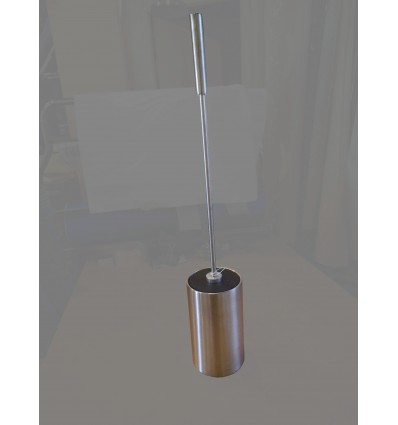 image: Escobillero metal redondo