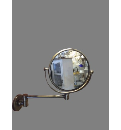 image: Espejo bronce brazo articulado