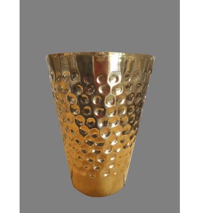 image: vaso puntos laton dorado