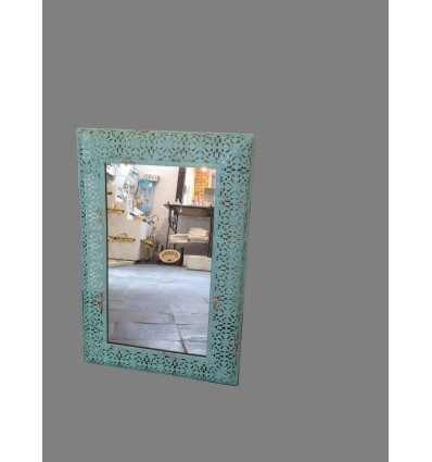 image: Espejo metal verde