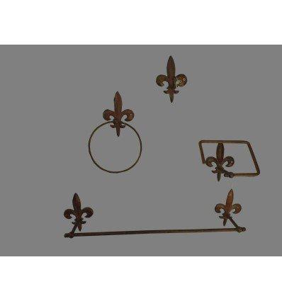 image: Set flor de lis marrón