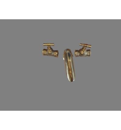 image: Llave de paso(par) lazo laton pulido