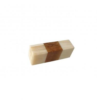 tirador hueso madera rayas mediano