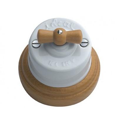 image: Conmutador superfice lazo mader y  base de madera