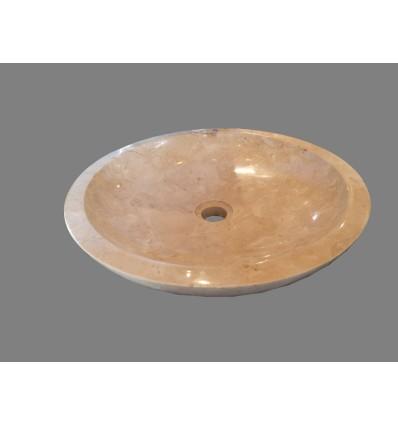 image: lavabo  marmol crema brillo